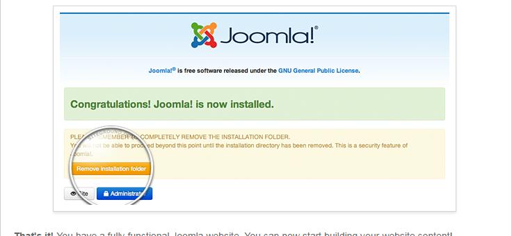 install joomla, manual process