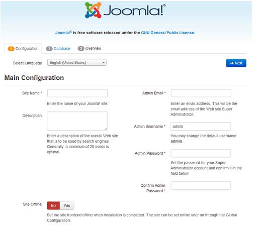 install joomla manually