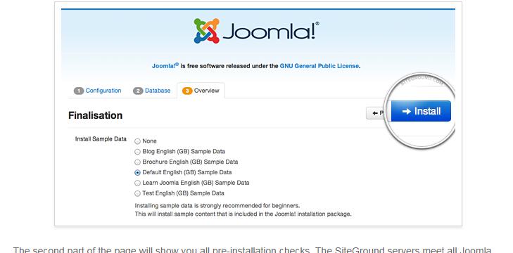 manually install joomla